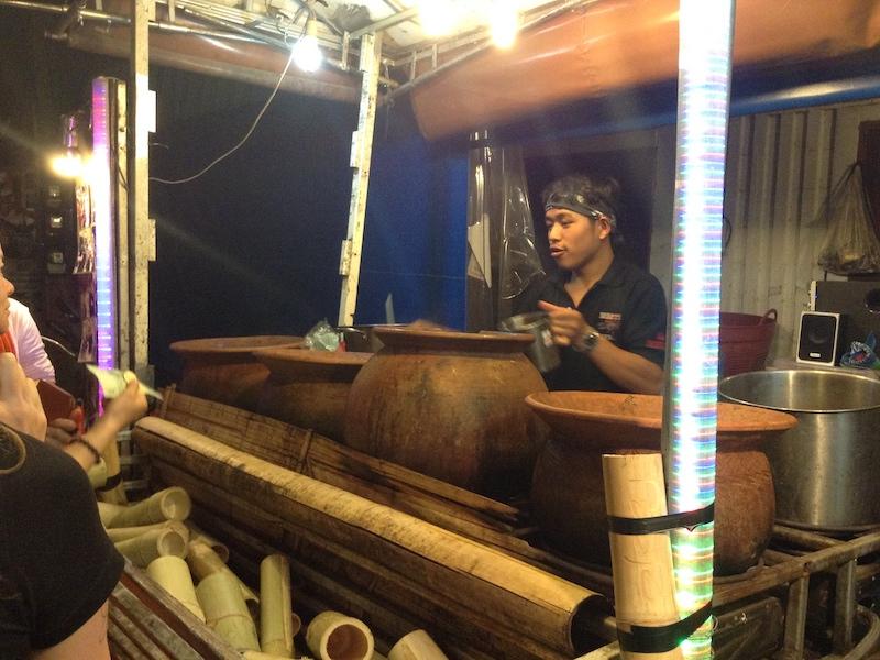 タイのハーブティー屋台