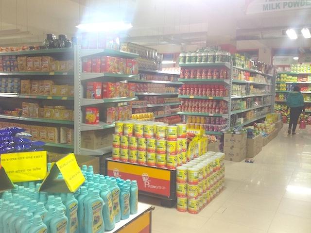 ネパールのスーパー