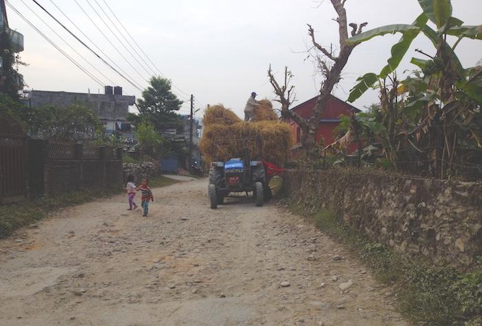 ポカラの田舎道