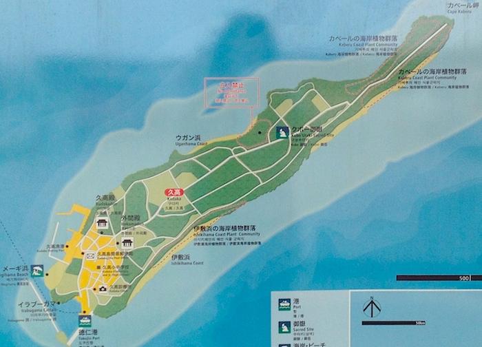 久高島の地図