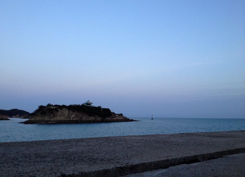 夕暮れ時の鞆の浦