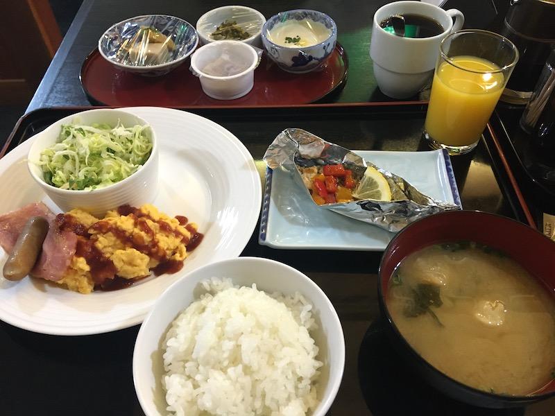 湯田温泉ホテル喜良久の朝食